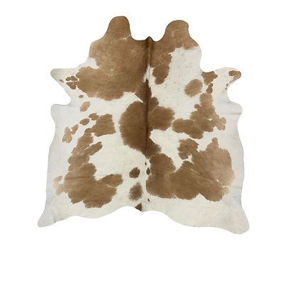 Cowhide Rug   Brown and White    M   10197