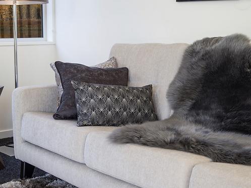 Longhair Sheepskin Rug Grey Colour
