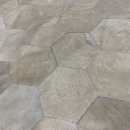 Patchwork Cowhide Rug | Natural White 140 x 150cm