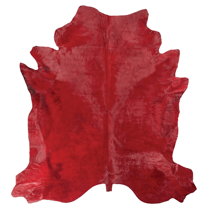 Italian Dyed Cowhide Rug | Ruby