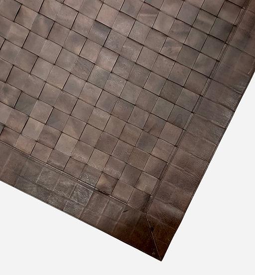 Leather Rug   Large Braid   120cm x 180cm