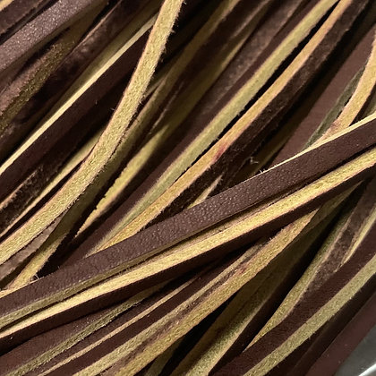Chestnut brown leather lace for shoes and boots