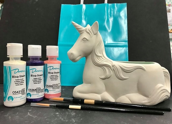 Unicorn Planter Paint Kit To Go