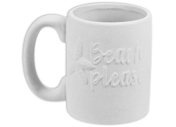 Beach Please Mug- Bisque
