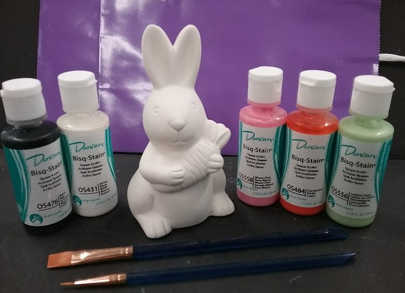 Spring Bunny Paint Kit To Go