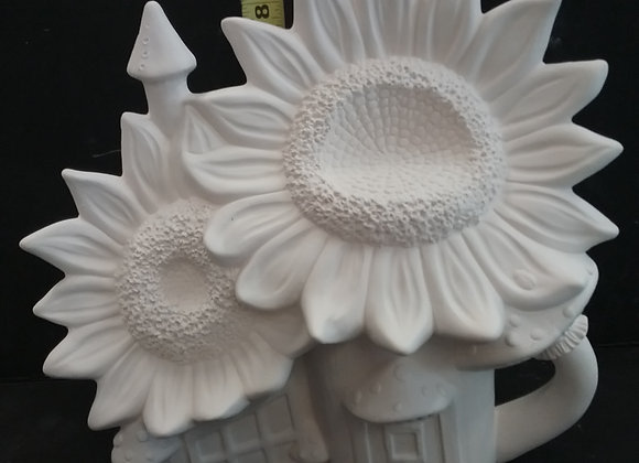 Sunflower fairy house