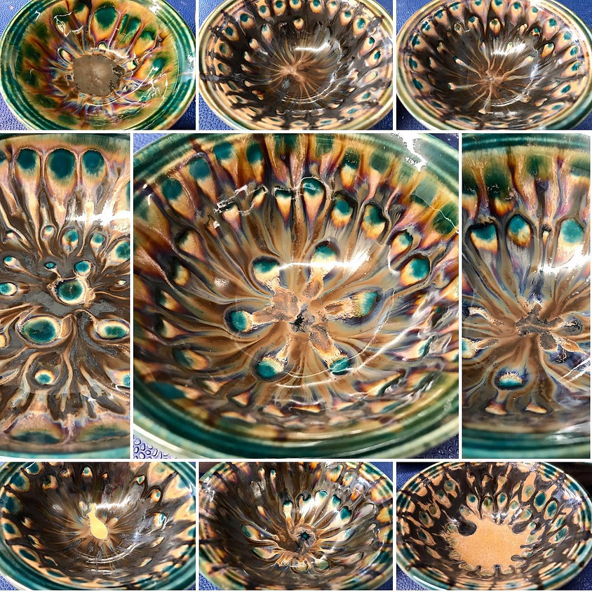 Peacock Serving Bowl  SOLD OUT