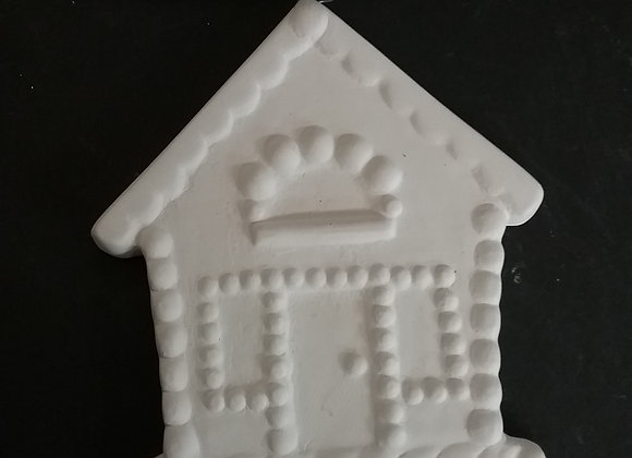 Gingerbread house ornament