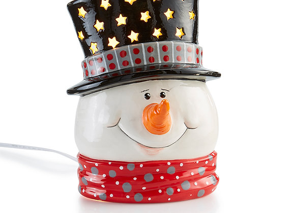 Snowman Head Light Up (Plug In Included)