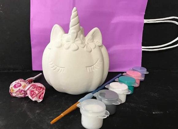 Unicorn Pumpkin Paint Kit To Go
