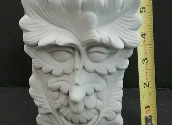 Green man vase small