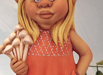 Hannah Honey Mushroom Gnome- Bisque