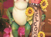 Frog welcome