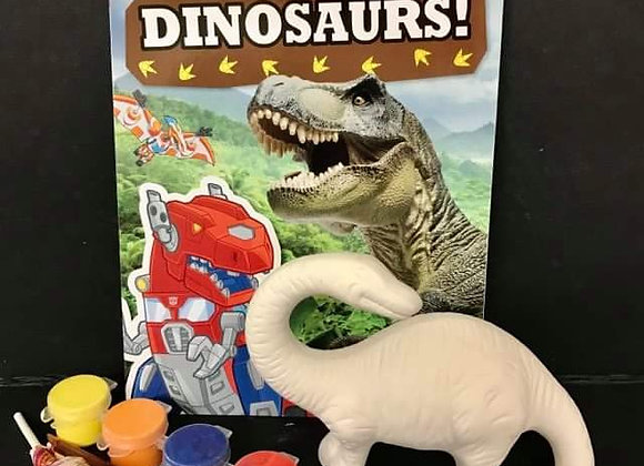 Robo-Dino Paint Kit with Book