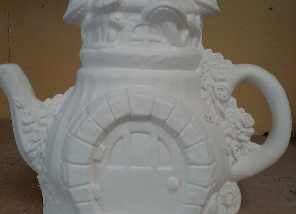 Mushroom Teapot Fairy House
