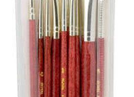 Sable/Camel Hair Natural Glazing Brush 10 Pack-Royal & Langnickle-RSET9153