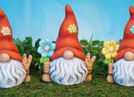 Gnome with flower- Bisque