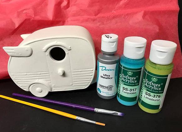 Camper Birdhouse Paint Kit To Go