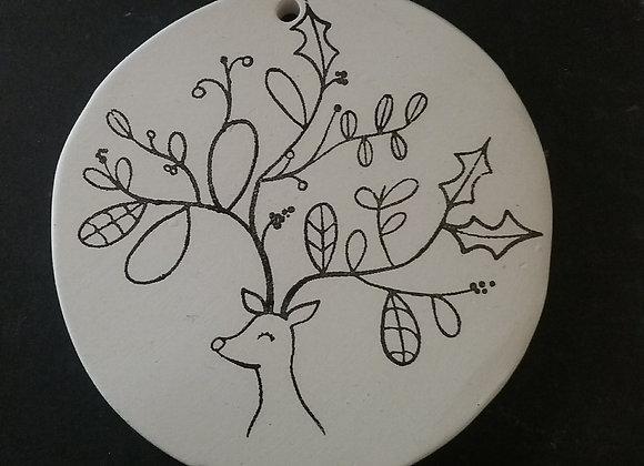 Round deer ornament