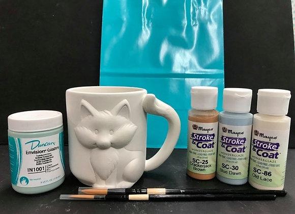 Fox Mug Paint Kit To Go