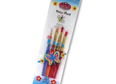 Royal Big Kids Choice Beginner Artist Brush Se- 4 Pc. Set- BK607