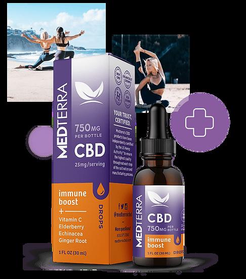 MedTerra Immune Boost CBD Tincture 750mg