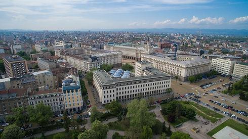 Aerial view of downtown Sofia Bulgaria.j