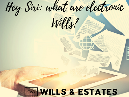 Hey Siri: what are electronic Wills?