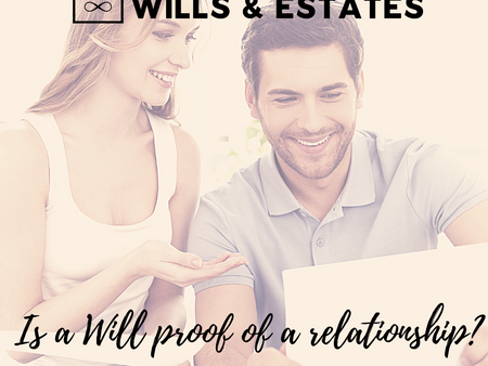 Is a Will proof of a relationship?
