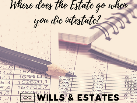Where does the Estate go when you die intestate?