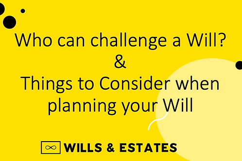 CPD Podcasts: Who can challenge a Will?/Things to Consider when planning a Will