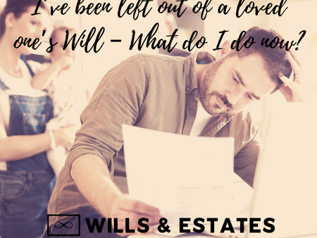 I've been left out of a loved one's Will – What do I do now?
