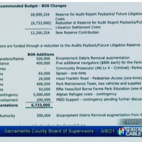 Sac County Board of Supes Approve Final FY 2021/22 All Funds Budget