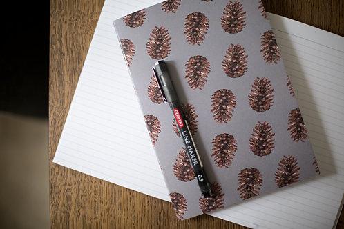 Pine Cone A5 Notebook