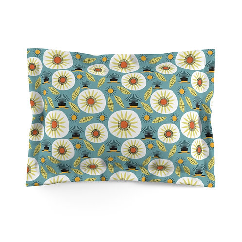Mid Century Modern Gumweed Floral Microfiber Pillow Sham