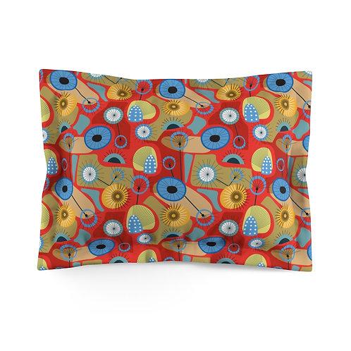 Mid Century Modern Thistle Microfiber Pillow Sham