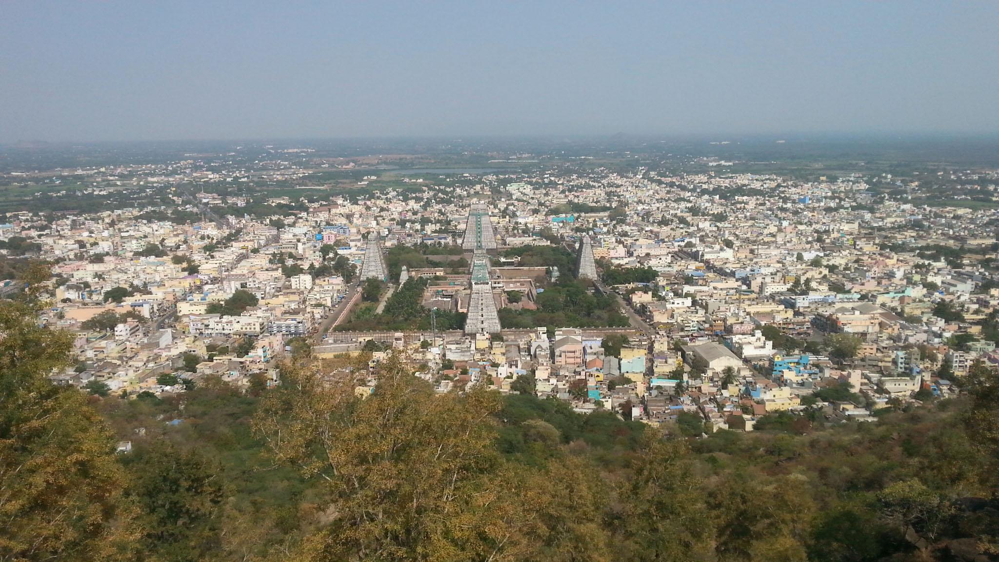 Тируванна Вид на главный храм с горы