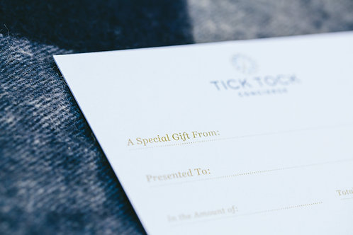 Tick Tock Concierge Gift Card