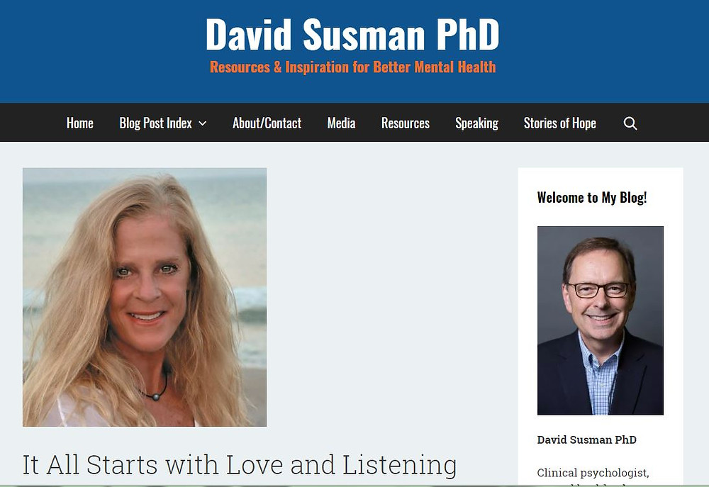 """David Susman, PhD chats with Rebecca Schaper on """"Stories of Hope."""""""