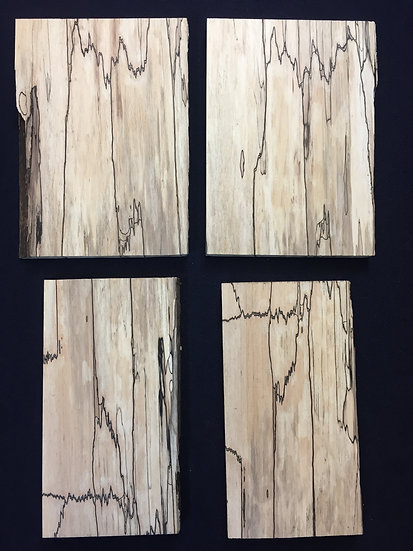 """1/2"""" Spalted Beech 4  Pieces"""