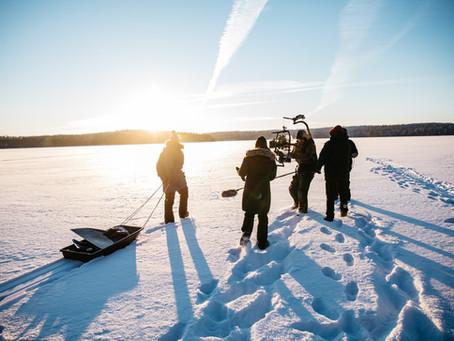 Filming in Heinola