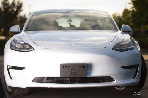 The Bandit - Tesla Model 3 Front License Plate Holder v2