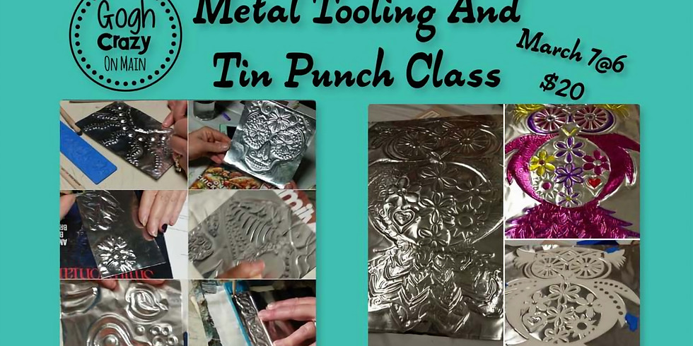 Metal tooling and tin punch class