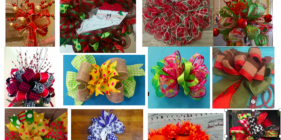 Bow, Tree Topper, and Wreath Workshop