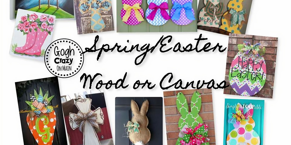 Spring/Easter Wood/Canvas