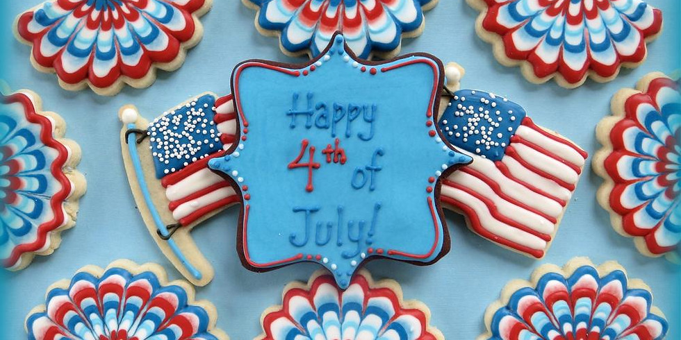 Summer 4th of July Cookie Decorating Class