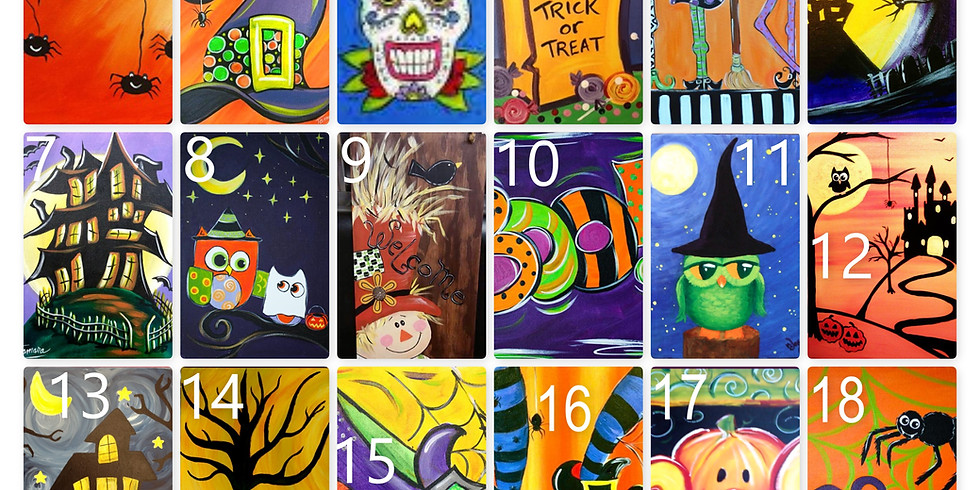 Halloween Canvas Painting-Vote for your top 3 favorites on FB-Winner Posted Soon (3)