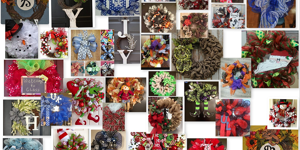 Design Your Own Wreath Class-Hundreds of Material Choices  (1)