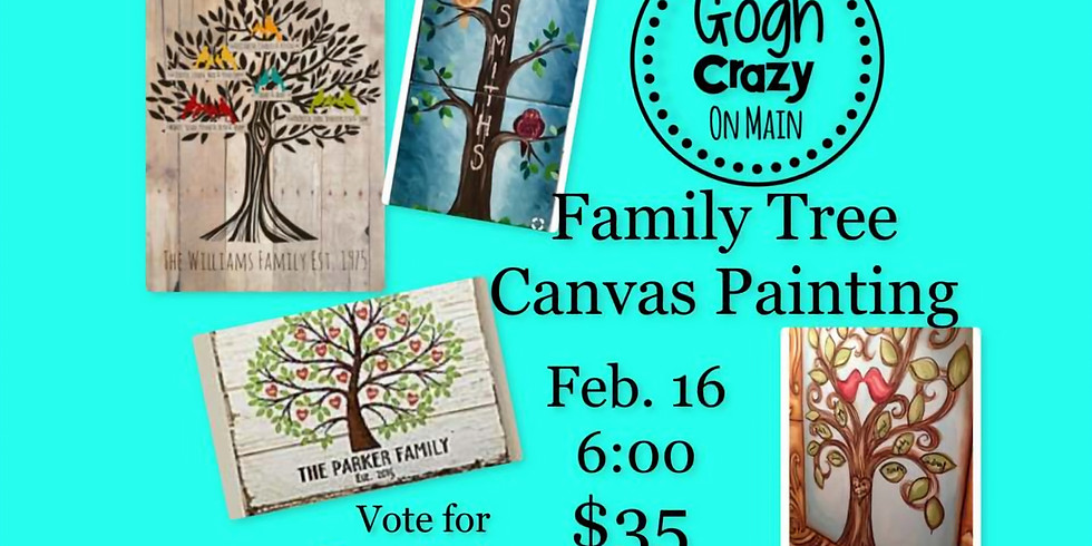 Family Tree Canvas Painting