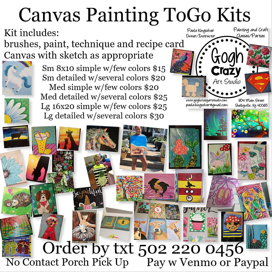 canvas painting to go kits gogh crazy.jp
